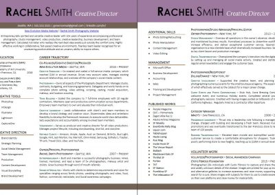 Creative Industry Resume